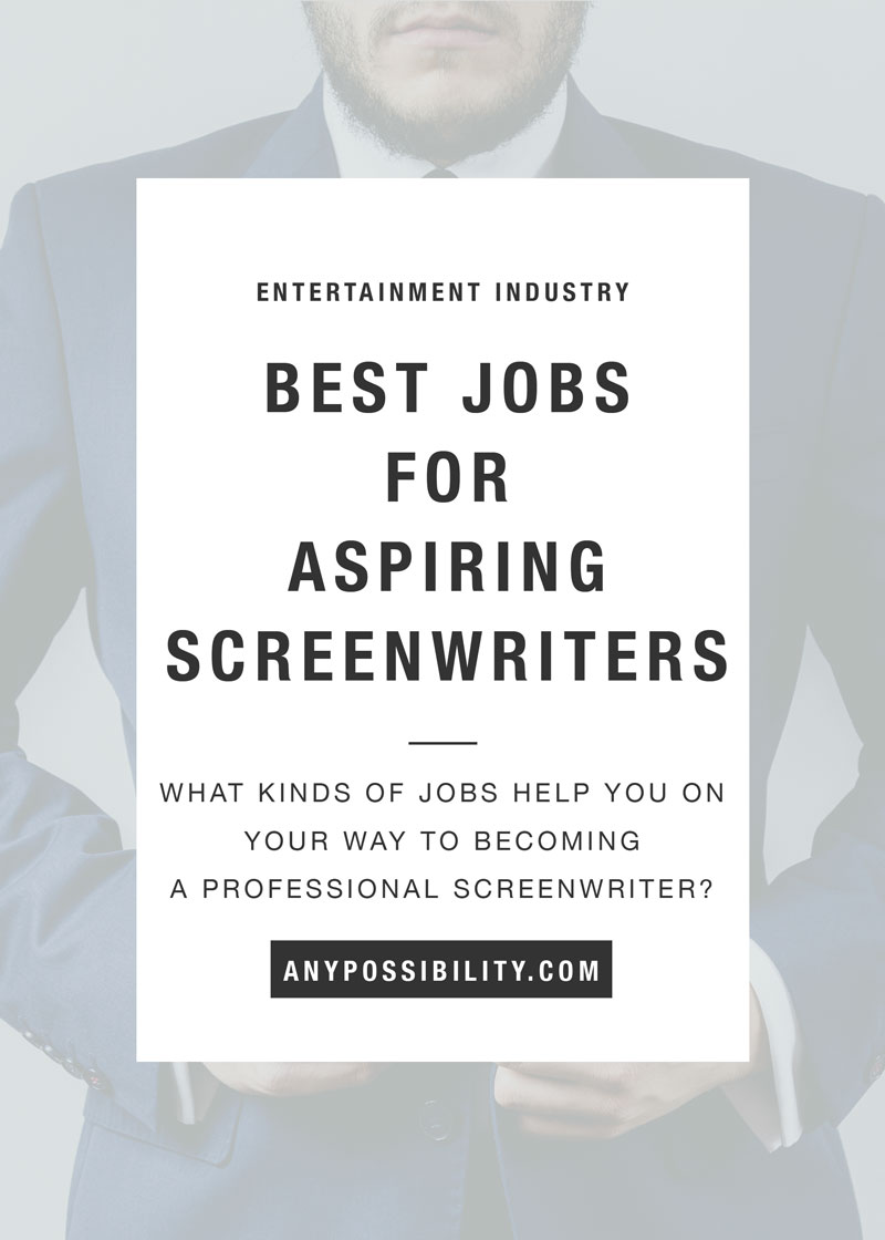 What are the best day jobs for aspiring screenwriters? Ideally, we want to sell a script right away and then sell 20 more, but just in case it takes a little time, you want to get a job. Some jobs for aspiring screenwriters are better than others. Check out your options here!