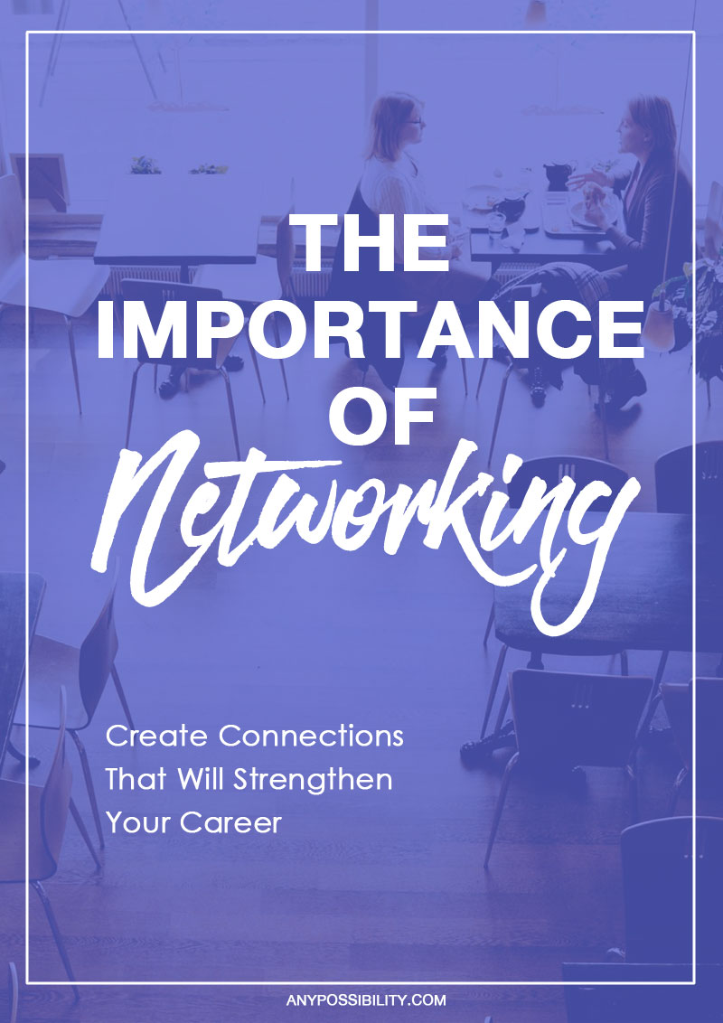 "Networking is the most powerful asset you can pick up over the course of your career. There's a reason people say, ""It's all about who you know."""