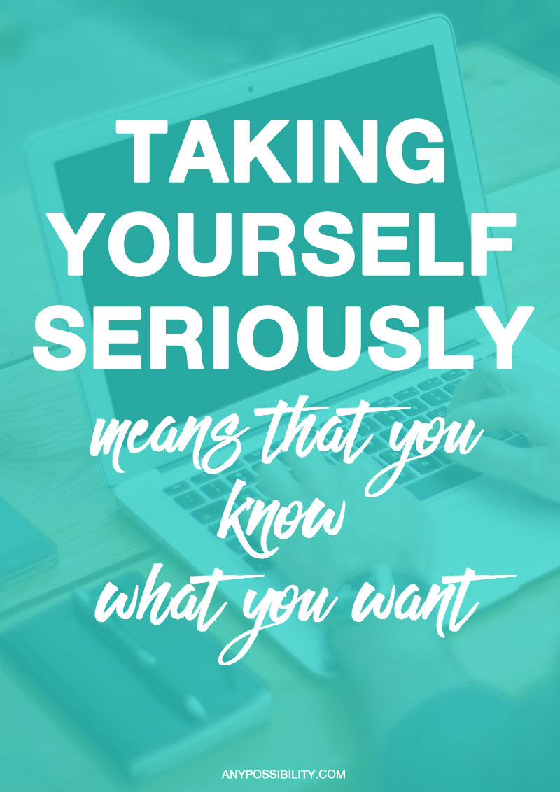 Taking yourself seriously as a writer is a rite of passage. You go from uncertainty to asserting yourself. It's a new attitude that manifests in your actions. Instead of feeling uncomfortable when people ask what you do, you confidently say that you are a writer. Instead of putting off working on your script, you honor your writing routine. Instead of hesitating about having people read your material, you look forward to constructive feedback.