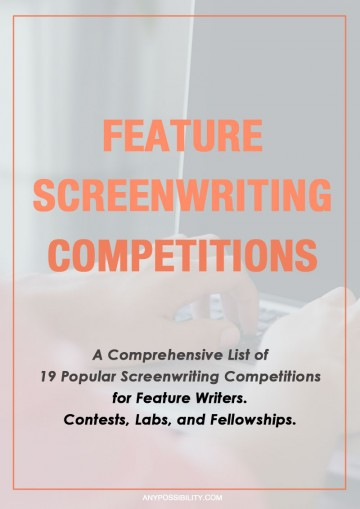 A comprehensive list of 19 popular screenwriting competitions for feature writers. Set your 2016 goals into gear by choosing what competitions you want to enter and using those deadlines to motivate your writing.