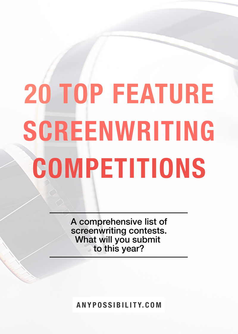 screen writing contests Each year, the academy nicholl screenwriting competition awards up to five $35,000 fellowships to amateur screenwriters to enter, submit a feature length screenplay and entry fee via the online application when the competition is open for submissions.