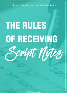 The Rules of Receiving Script Notes