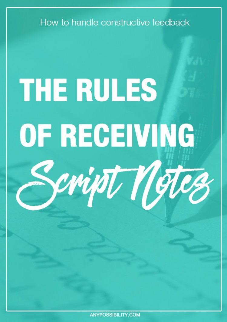 Screenwriting needs rewriting. Getting notes on your screenplay from a reader isn't as easy as it seems. Script notes will shape your work into its best form, but making sense of it all is a challenge. Read this post on what to do when you receive constructive feedback on your script.