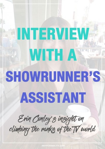 Read this interview with Erin Conley about navigating the entertainment industry in order to get closer to the coveted writers' room. Now a showrunner's assistant, like many people in the industry, Erin has worked her way along a very traditional path that leads into being a staffed writer on a television show. She has amazing insight to offer on everything from assistant duties to rising through the ranks. Read it here!