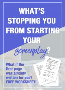 One Page Challenge: Write Your Screenplay Now