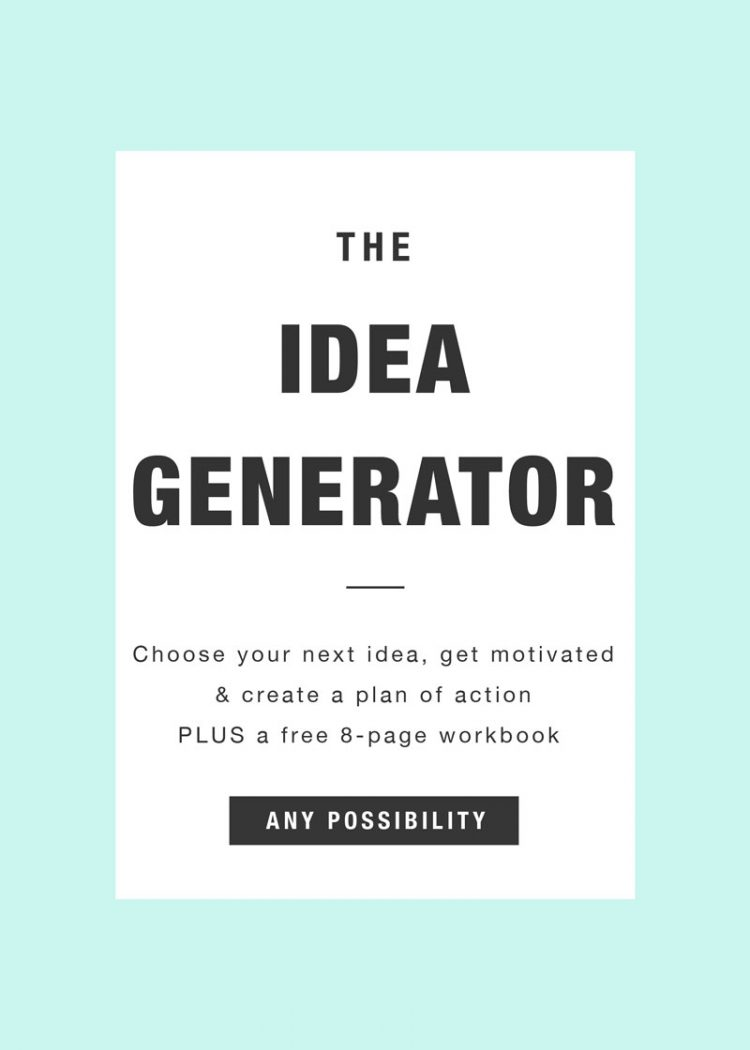 The Idea Generator: A Screenwriting Starter Kit to choose your next idea, get motivated and create a plan of action. Make your screenplay something that is inspired and something you're excited about!