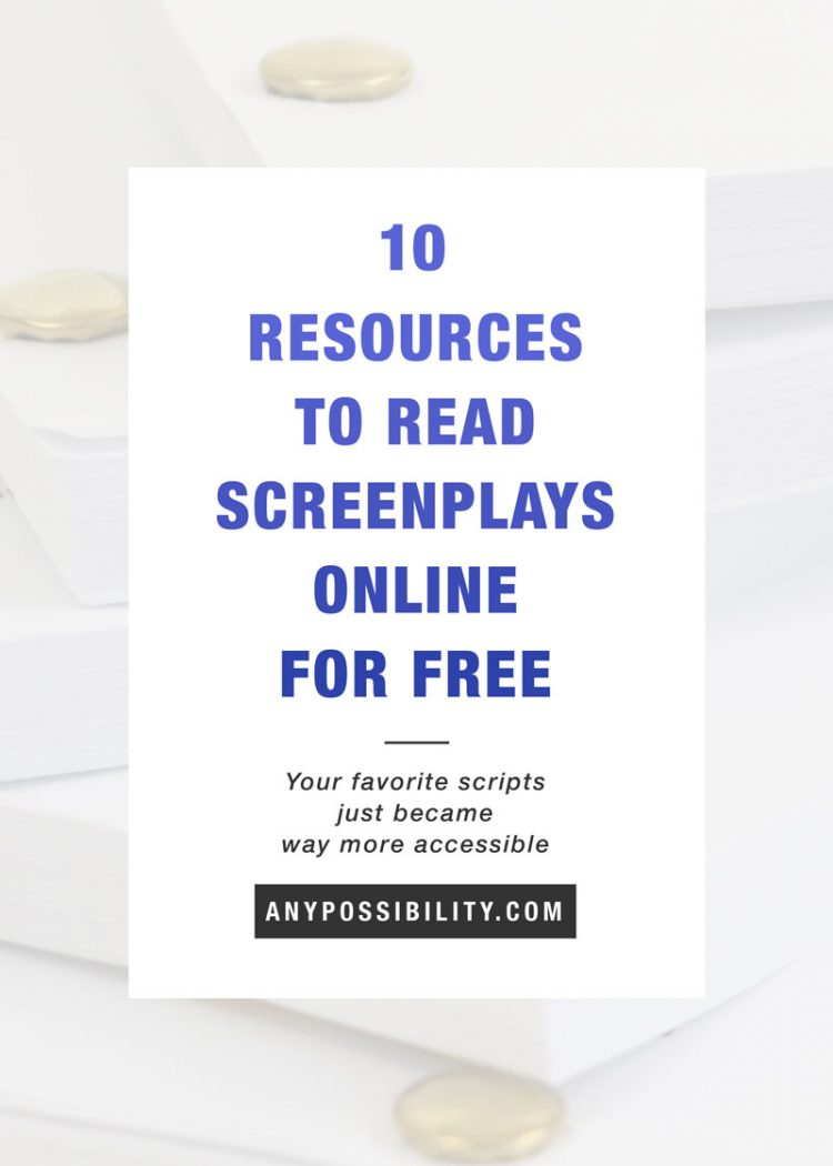 read screenplays online for free