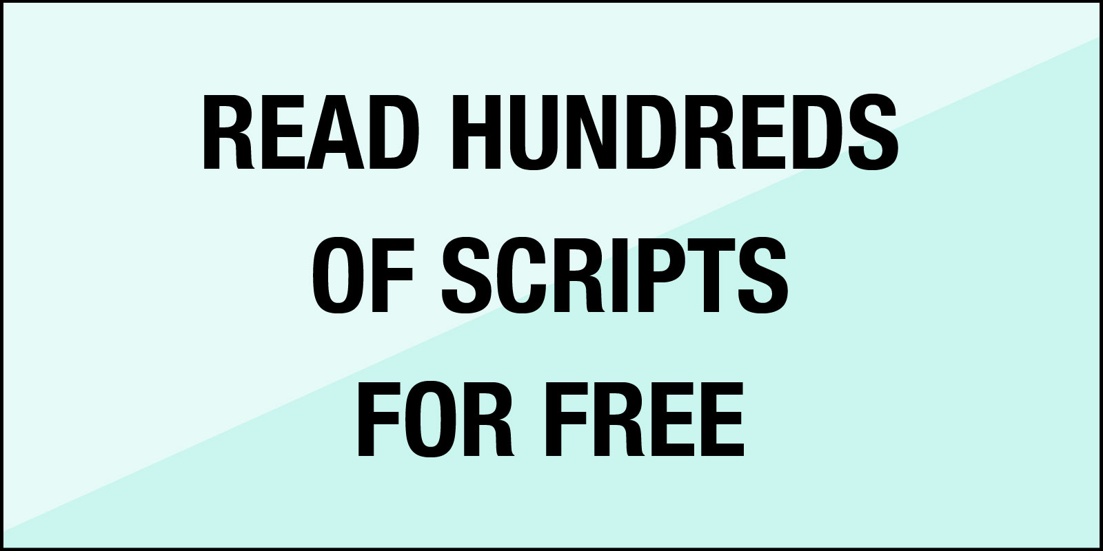 read scripts any possibility