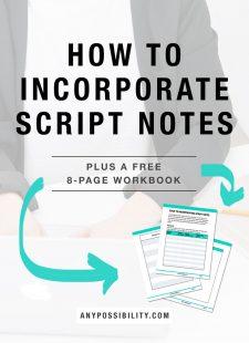 How To Incorporate Script Notes